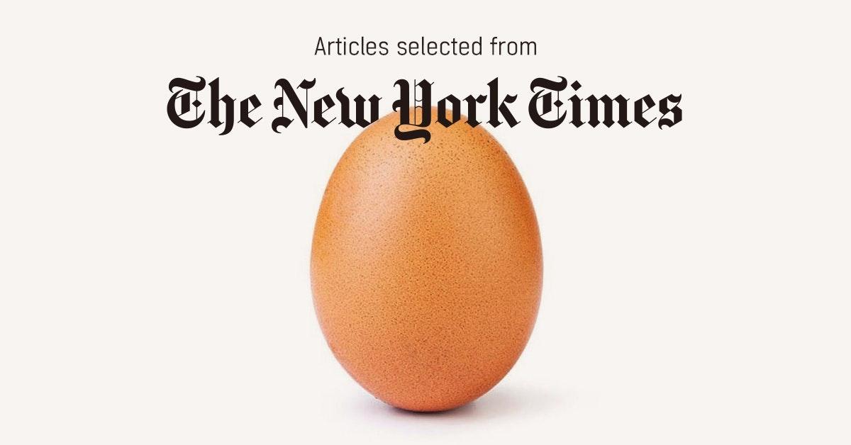 뉴욕타임스 - 퍼블리 큐레이터가 선정한 뉴스 [2019년 2월 3주]