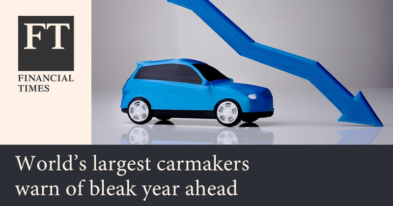 세계 최대 자동차 기업들의 어두운 미래