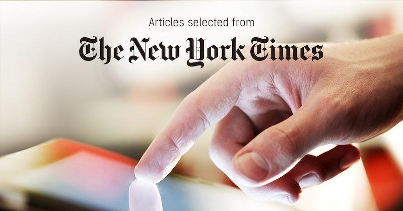 뉴욕타임스 - 퍼블리 큐레이터가 선정한 뉴스 [2019년 2월 4주]