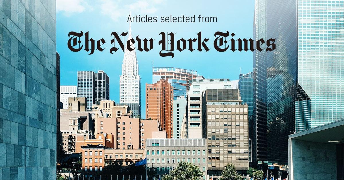 뉴욕타임스 - 퍼블리 큐레이터가 선정한 뉴스 [2019년 3월 1주]