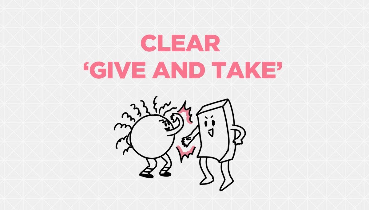 메디치를 설득하는 기획서: CLEAR GIVE AND TAKE