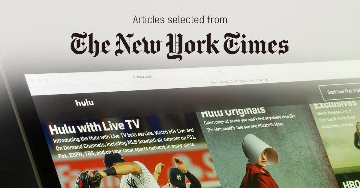 뉴욕타임스 - 퍼블리 큐레이터가 선정한 뉴스 [2019년 5월 2주]
